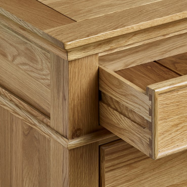 Classic Natural Solid Oak 2 Drawer Bedside Table