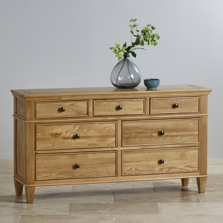Classic Natural Solid Oak 3+4 Drawer Chest