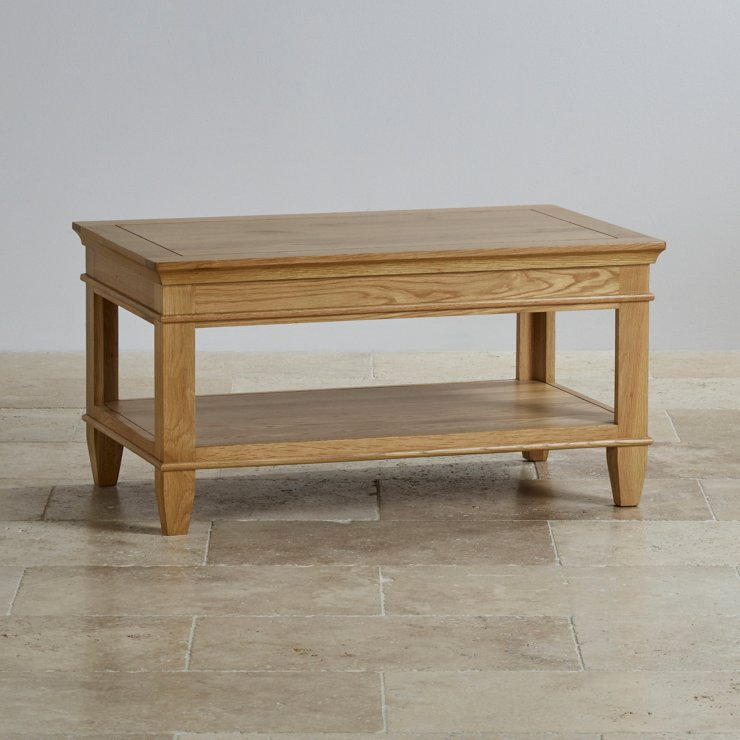 Classic Coffee Table In Natural Solid Oak Oak Furniture Land