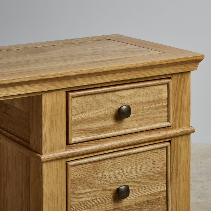 Classic Dressing Table In Natural Solid Oak Oak Furniture Land
