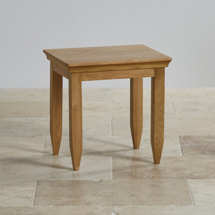 Classic Natural Solid Oak Dressing Table Stool
