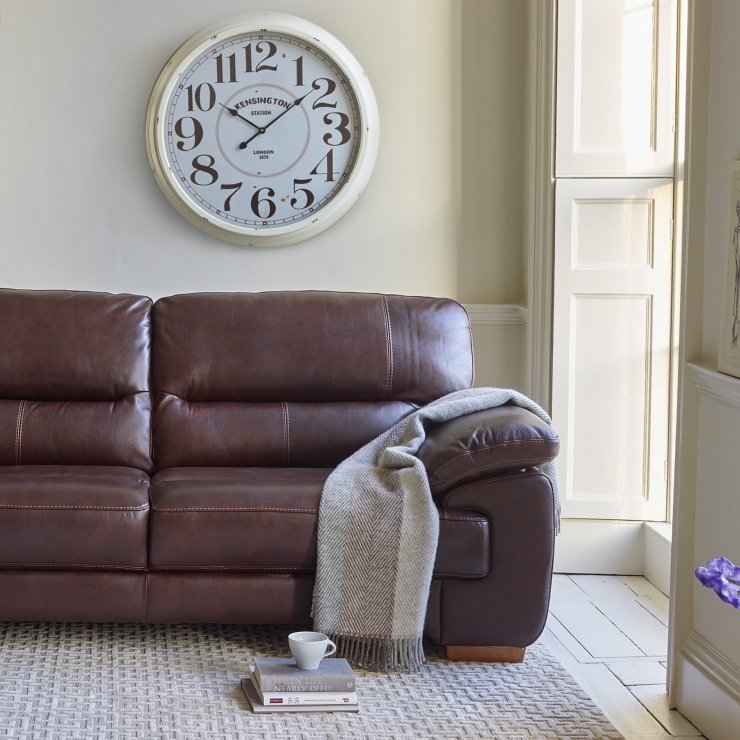 2 Seater Leather Sofa Brown: Clayton 2 Seater Sofa In Brown Leather