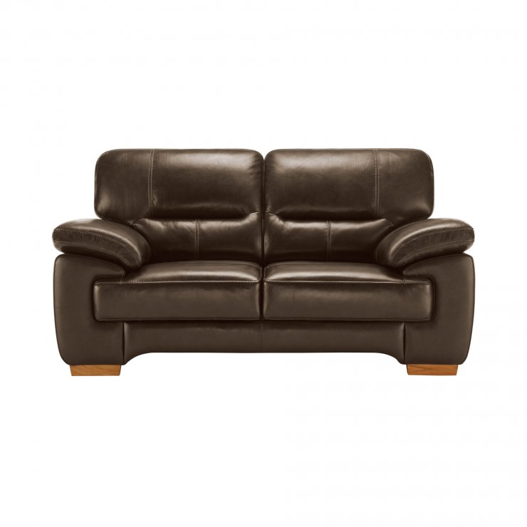 clayton 2 seater sofa in light brown leather oak furniture land