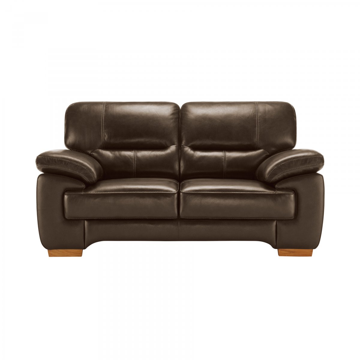 clayton 2 seater sofa in light brown leather oak. Black Bedroom Furniture Sets. Home Design Ideas