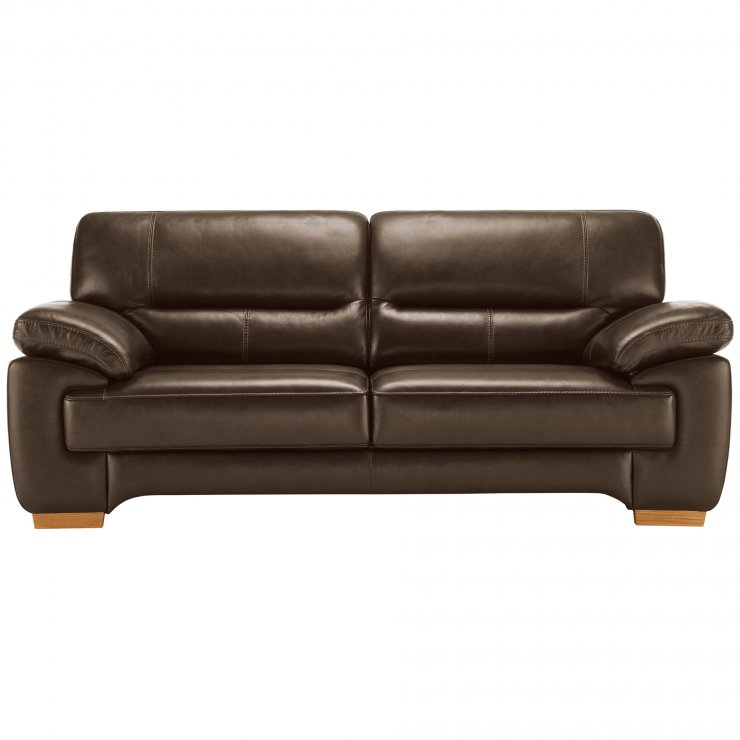 Clayton 3 Seater Sofa in Light Brown Leather