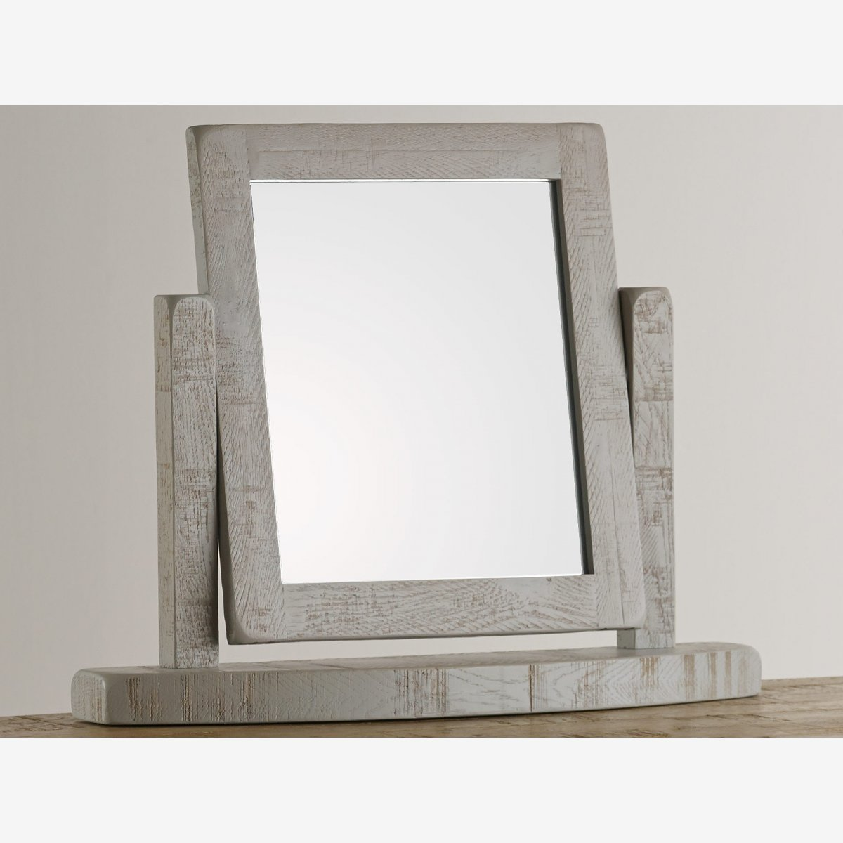 Clermont rough sawn oak and painted dressing table mirror for Dressing table mirror