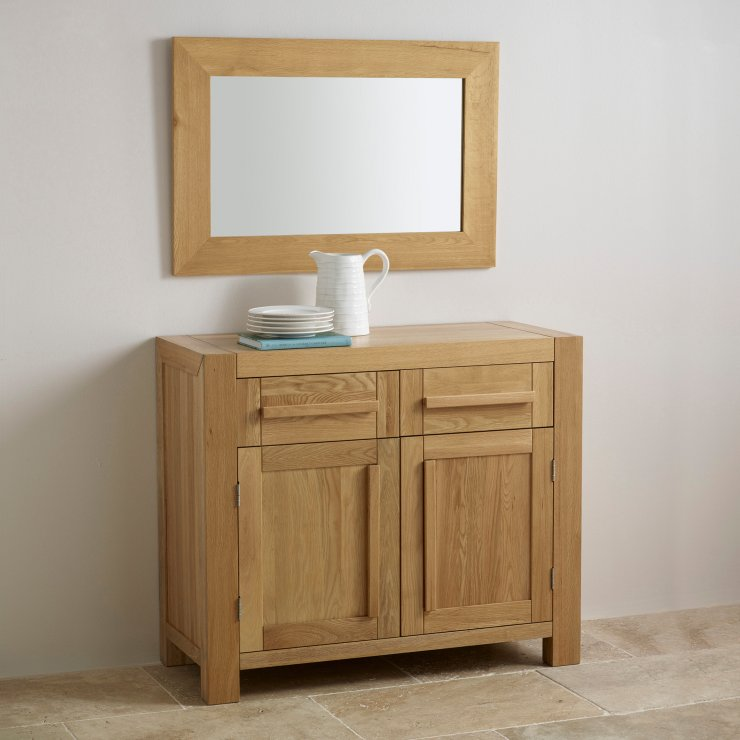 Cosmopolitan Mirror Natural Solid Oak 900mm x 600mm Wall Mirror