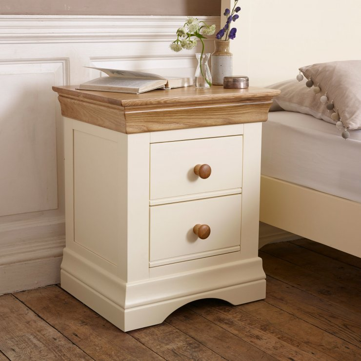 Country Cottage Bedside Table in Painted Oak Oak  : country cottage natural oak and painted 2 drawer bedside table 59baab3e1ce4c474c24005389f42383565d98f19daebe from www.oakfurnitureland.co.uk size 740 x 740 jpeg 73kB