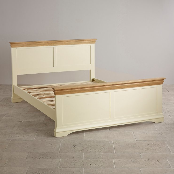 "Country Cottage Natural Oak and Painted 4ft 6"" Double Bed"