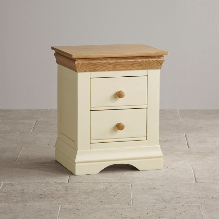 Country Cottage Bedside Table in Painted Oak Oak  : country cottage natural oak and painted bedside table 55e082c1cb223e04df9538225dab49f7d2944d615a3d1 from www.oakfurnitureland.co.uk size 740 x 740 jpeg 54kB