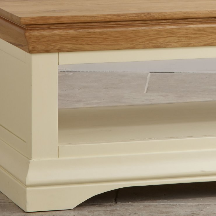 Country Cottage Natural Oak and Painted Coffee Table