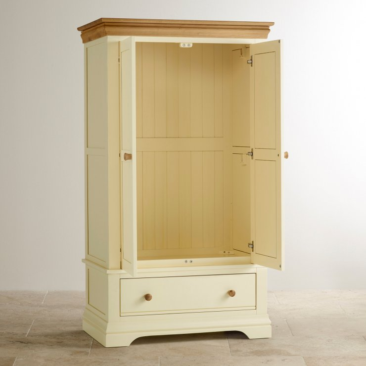 Country Cottage Natural Oak and Painted Nursery Wardrobe