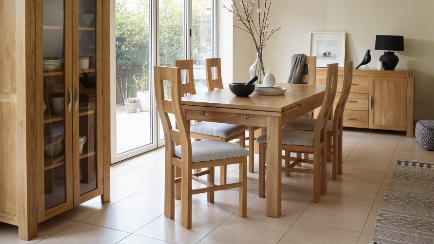Dining room furniture free delivery oak furniture land for Dining room furniture uk