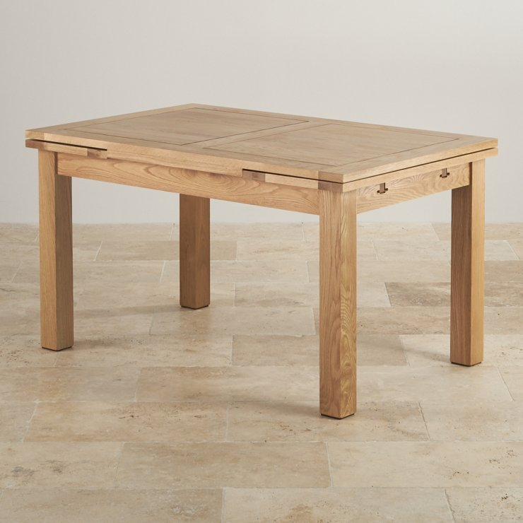 "Dorset 4ft 7"" x 3ft Natural Oak Extending Dining Table (Seats up to 8 people Extended)"