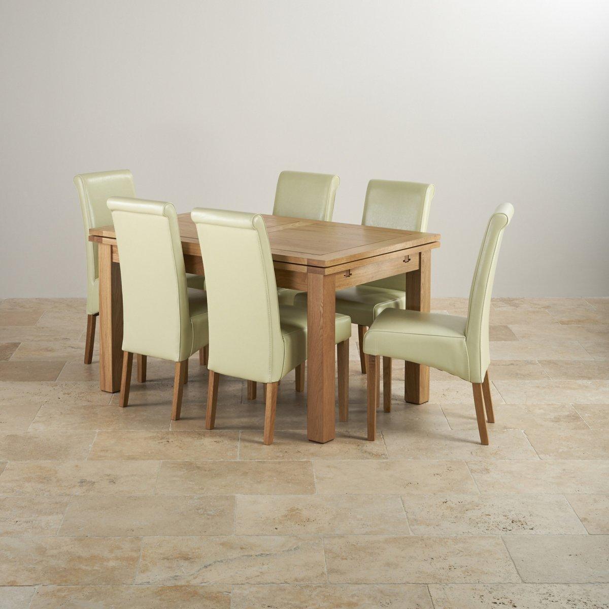 Dorset 45ft x 3ft Extending Oak Dining
