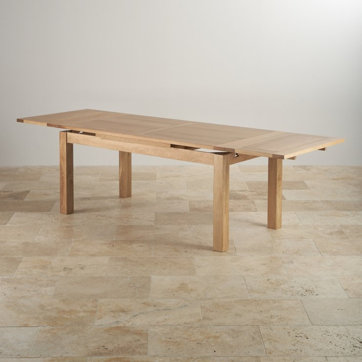 Dorset 6ft x 3ft Natural Oak Extending Dining Table (Seats up to 12 people Extended)
