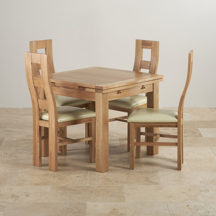 Dorset Solid Oak 3ft Dining Table with