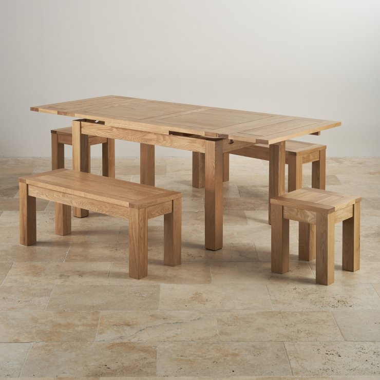 Dorset Oak 4ft 7quot Dining Table with 2 Benches amp 2 Stools : dorset natural solid oak dining set 4ft 7 extending table with 2 x 3ft 7 benches and 2 x square stools 56eab7c737bb0d37346530878487346d240a10bbe1dd5 from www.oakfurnitureland.co.uk size 740 x 740 jpeg 68kB