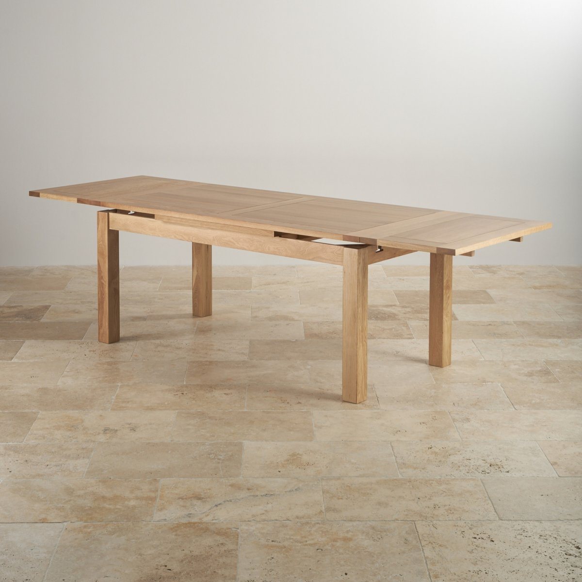 Solid sheesham wood extending dining table w 180cm for Table stockholm maison du monde