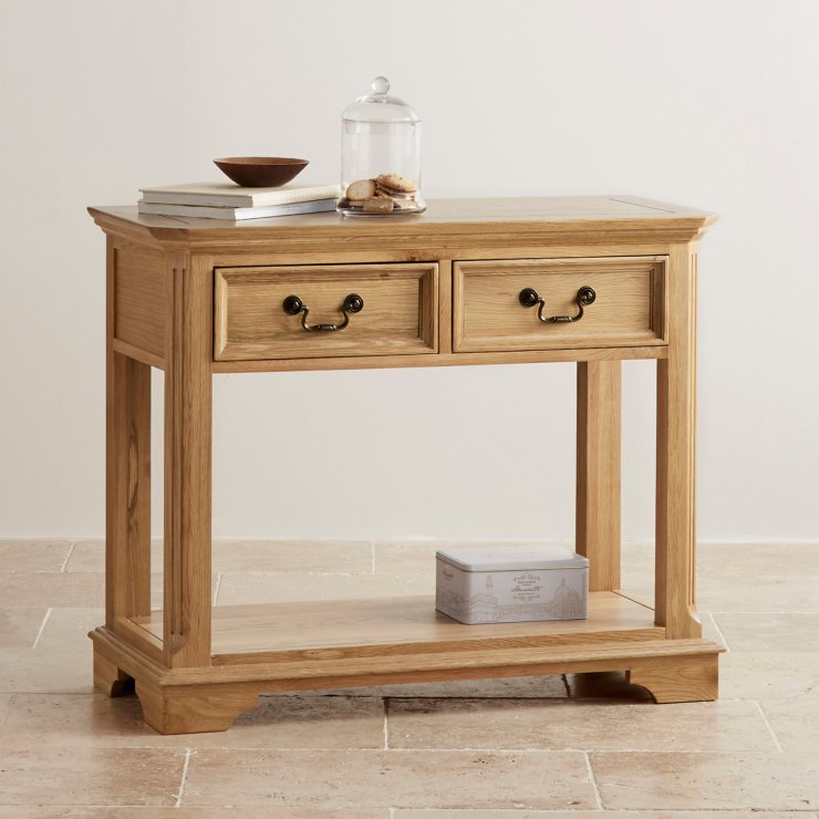 Edinburgh Natural Solid Oak Console Table