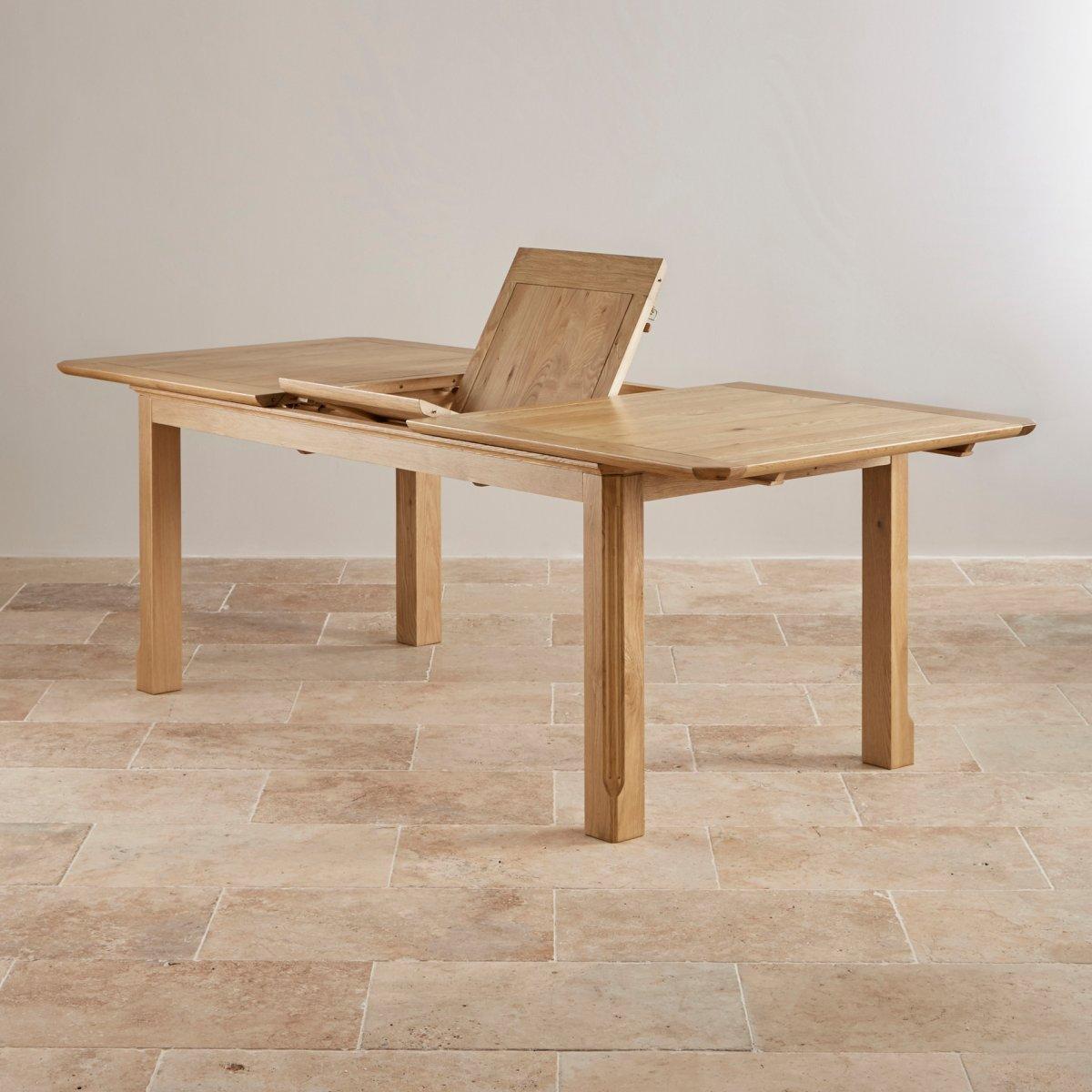 Edinburgh 6ft Extending Oak Dining Table 6 Plain Sage Chairs