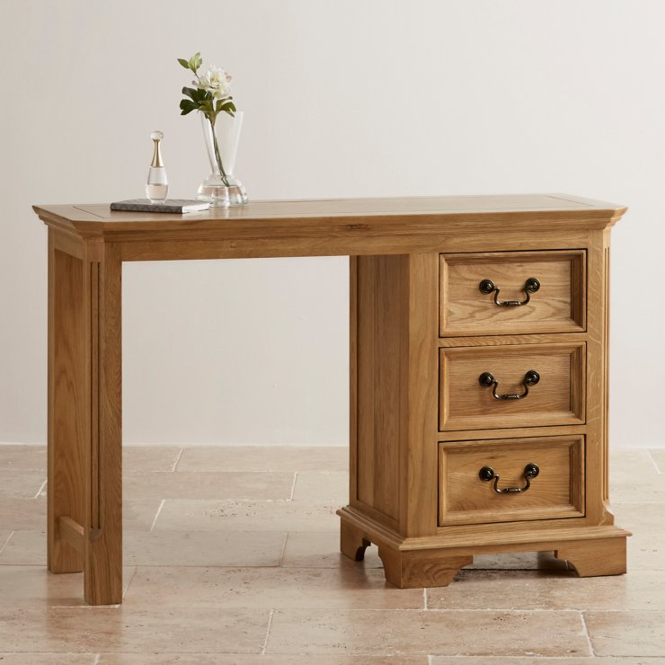 Edinburgh Natural Solid Oak Dressing Table