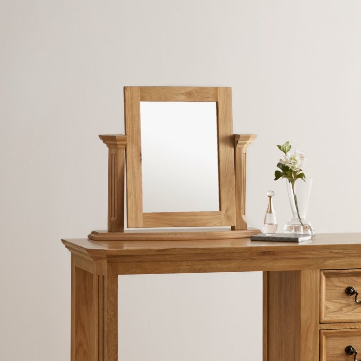 Edinburgh Natural Solid Oak Dressing Table Mirror