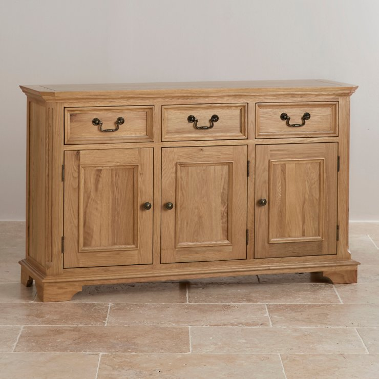 Edinburgh Natural Solid Oak Large Sideboard