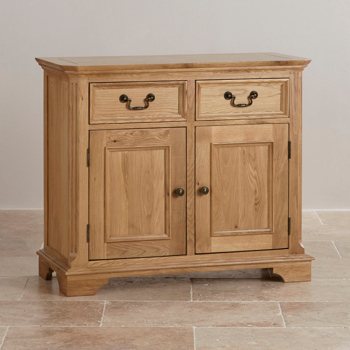 Edinburgh natural solid oak small sideboard by oak for Oak furniture land
