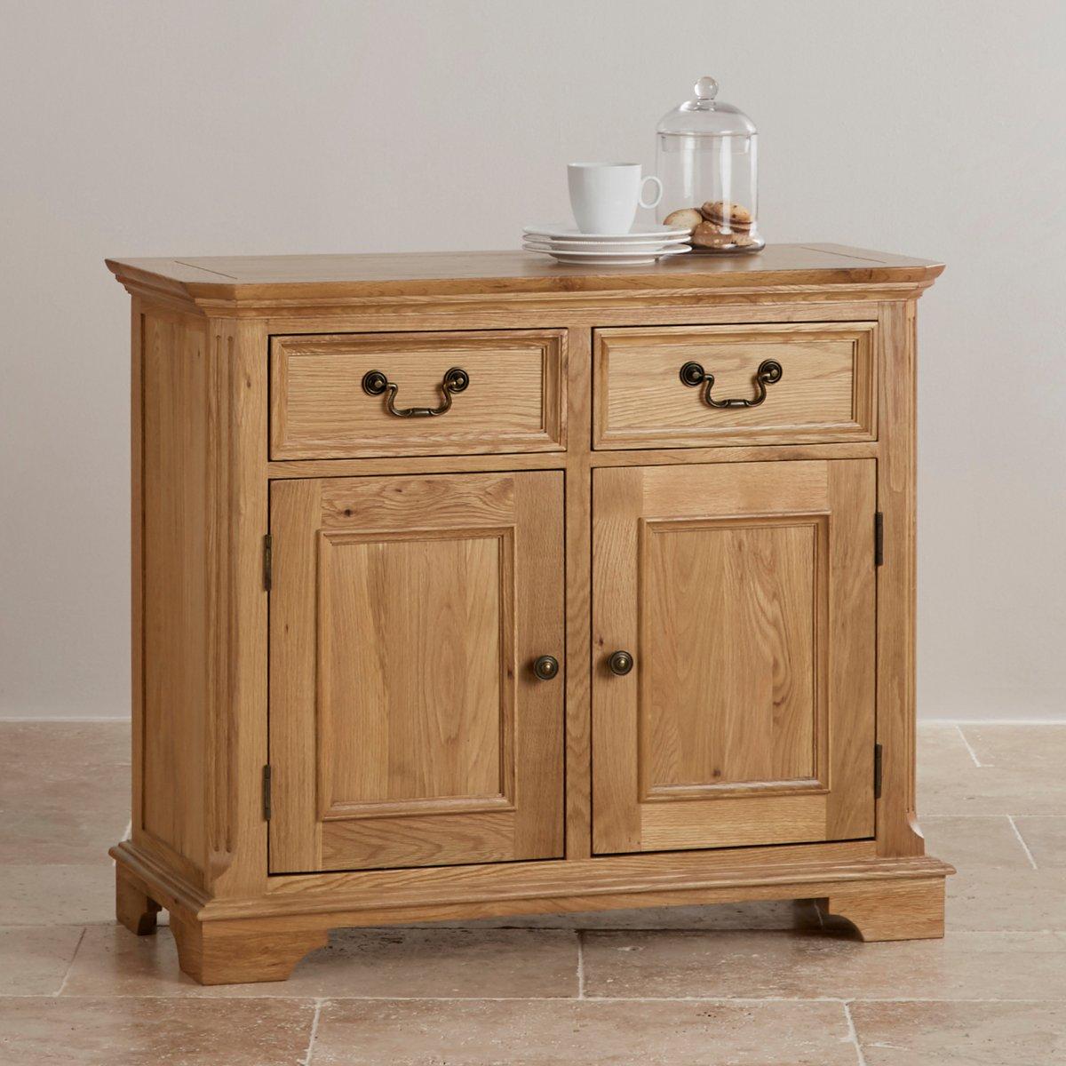 Edinburgh natural solid oak small sideboard by oak for Furniture land