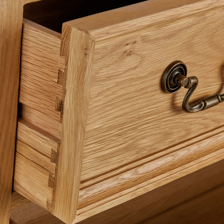 Edinburgh Natural Solid Oak Storage Cabinet