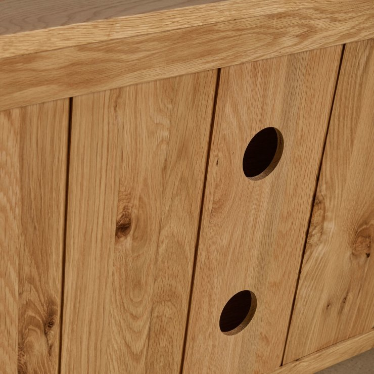 Edinburgh Natural Solid Oak Large TV Cabinet