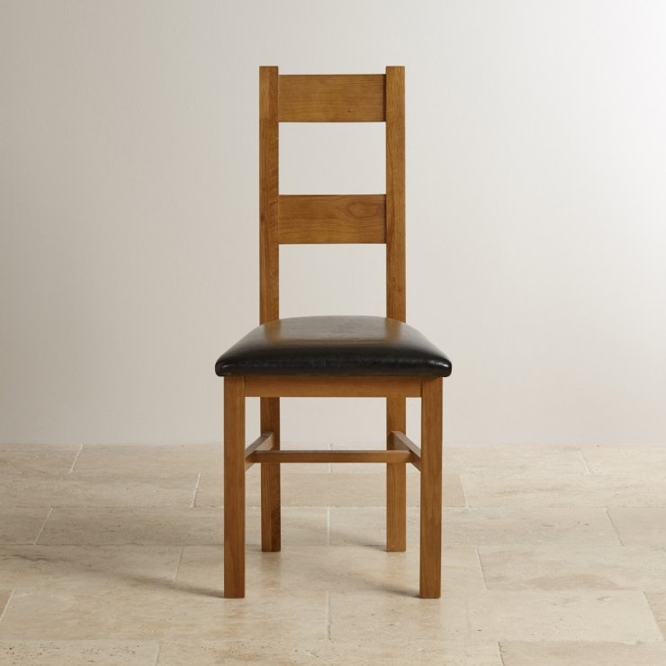 Farmhouse Dining Chair in Rustic Solid Oak Black Leather : farmhouse rustic solid oak and black leather dining chair 567ab59233ff77ff5322294749268f40cbb77342e75cd from www.oakfurnitureland.co.uk size 740 x 740 jpeg 45kB