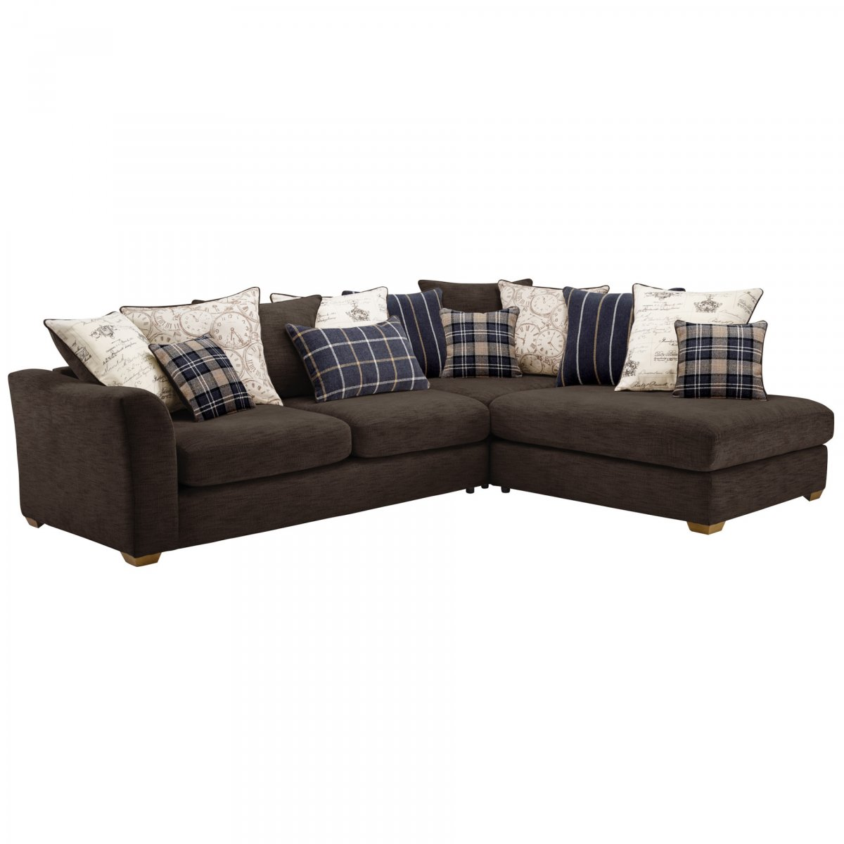 Left Hand Corner Sofas For Sale: Florence Left Hand Corner Sofa With Pillow Back In Charcoal