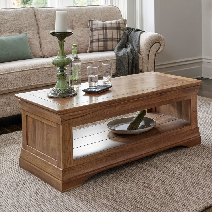 French Farmhouse Coffee Table in Solid Oak