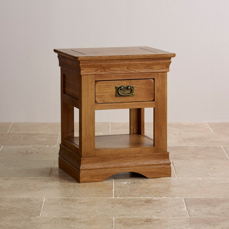 French farmhouse lamp table solid oak oak furniture land for Oak furniture land