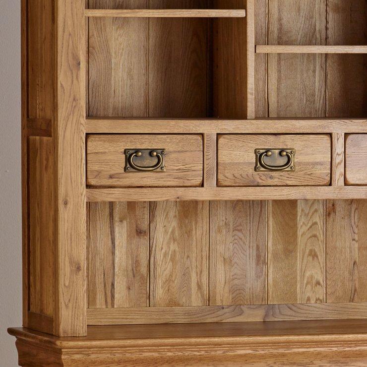 French farmhouse large dresser solid oak oak furniture for Farmhouse rustic oak