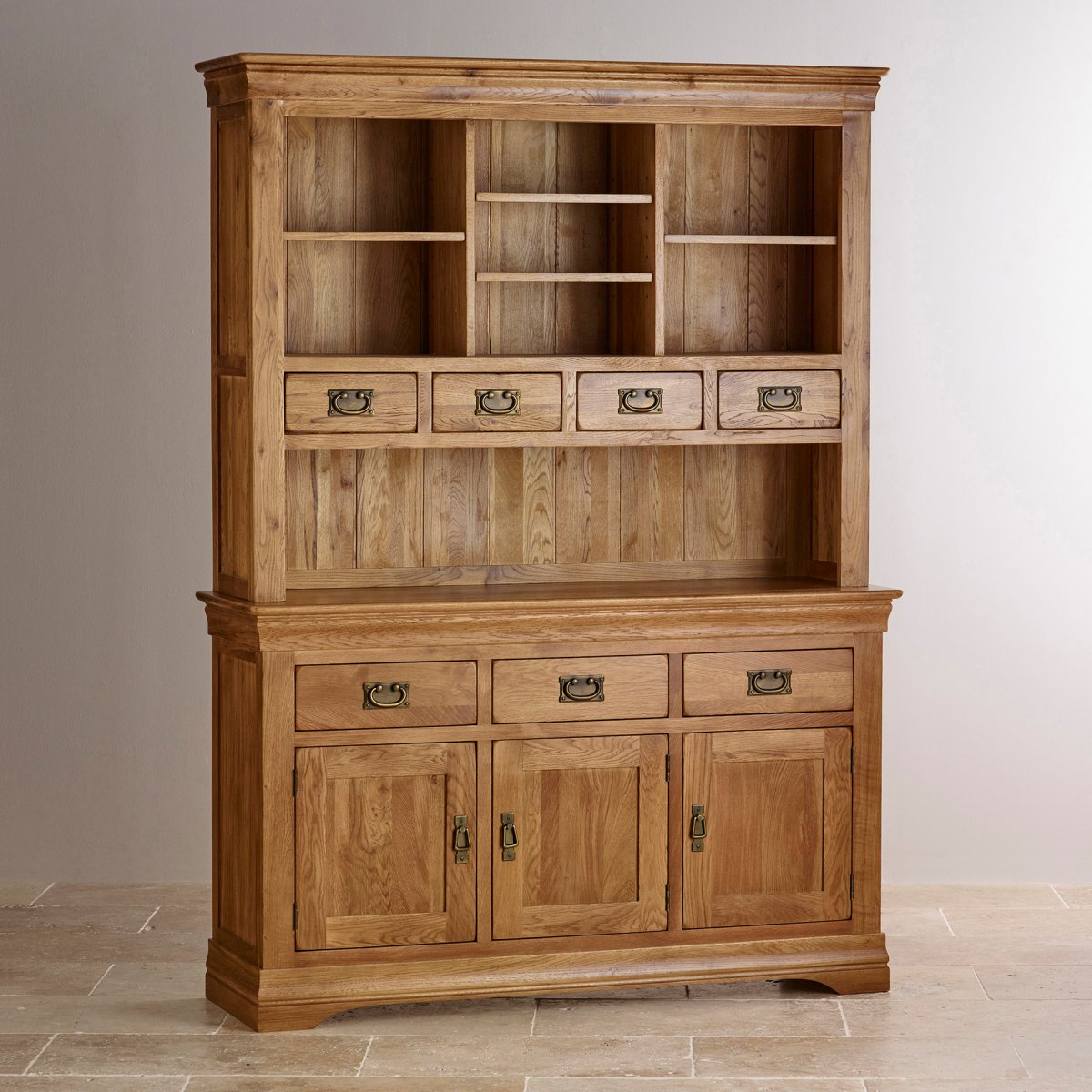 French Farmhouse Large Dresser Solid Oak Oak Furniture