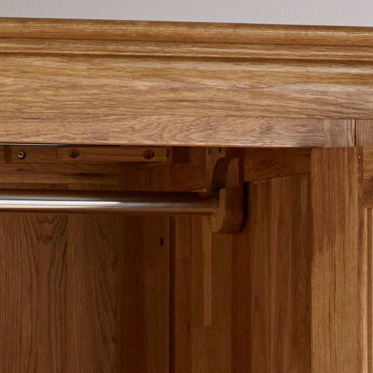 French farmhouse double wardrobe in solid oak for Farmhouse rustic oak
