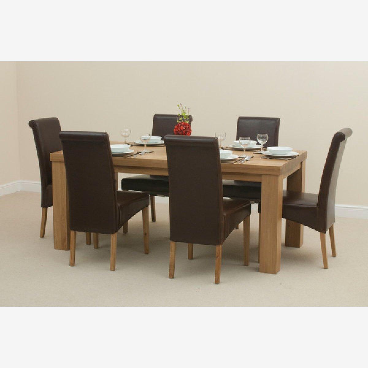 6ft Solid Oak Dining Table Alto Natural Solid Oak 6ft x 3ft