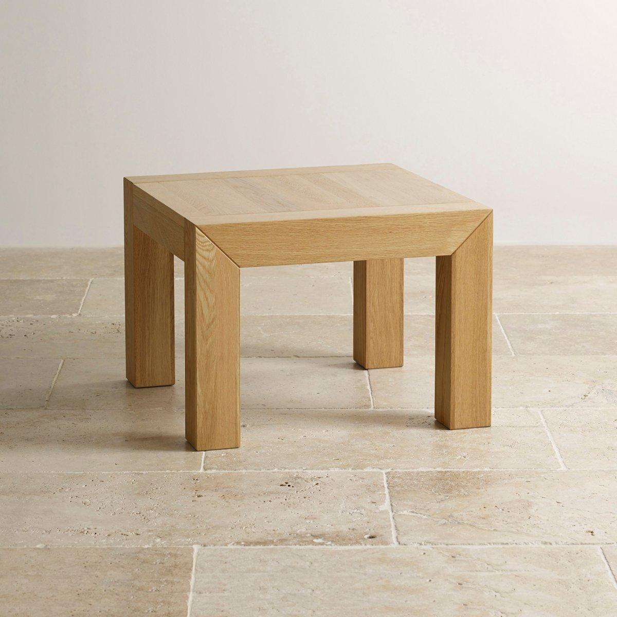 Fresco Natural Solid Oak Side Table Living Room Furniture