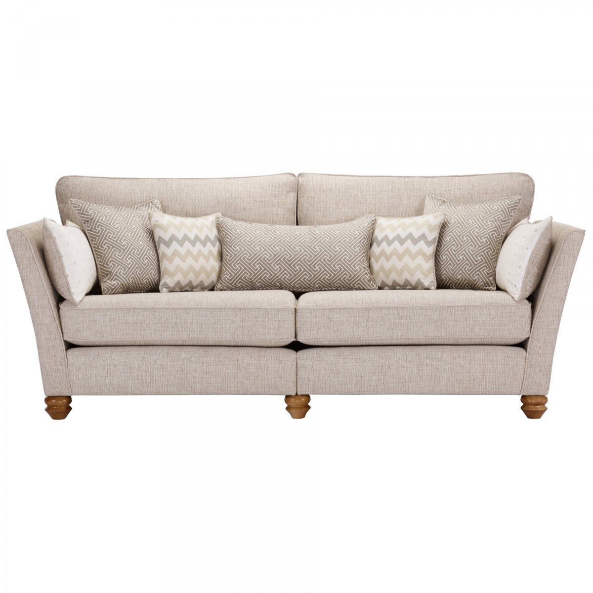 gainsborough 4 seater sofa in beige matching scatters. Black Bedroom Furniture Sets. Home Design Ideas