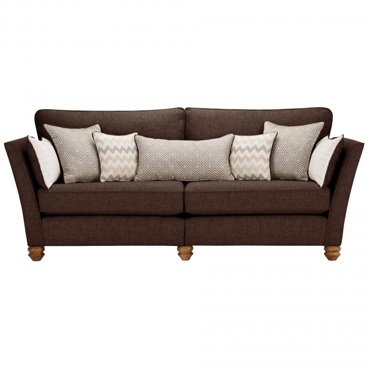 Gainsborough 4 Seater Sofa in Brown with Beige Scatters