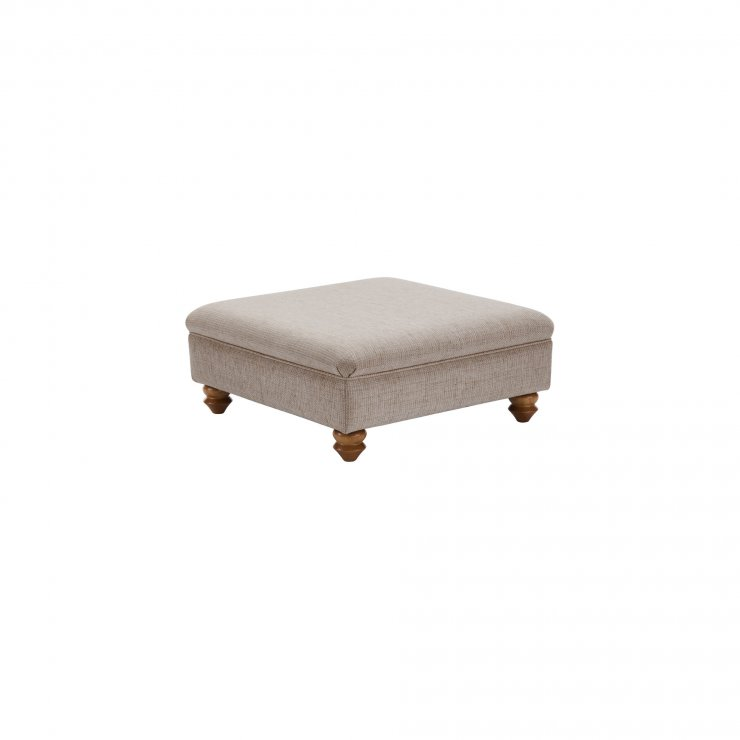Gainsborough Footstool in Silver
