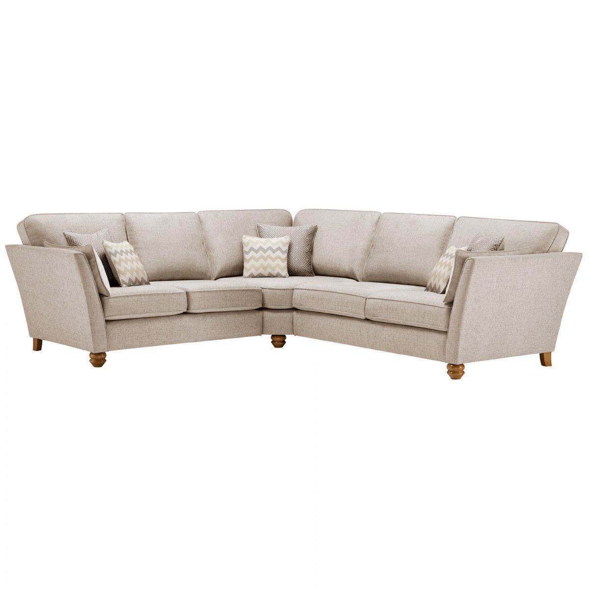 gainsborough large corner sofa in beige beige scatters