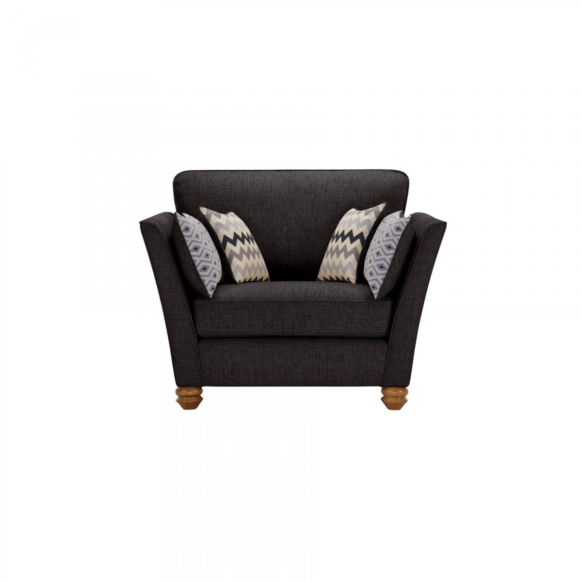 Gainsborough Loveseat In Black Oak Furniture Land