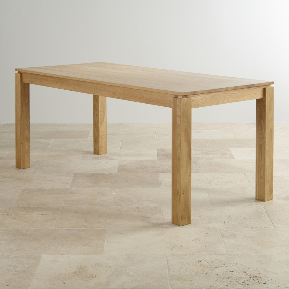 Galway 6ft x 2ft 8 natural solid oak table dining furniture for Solid oak dining table