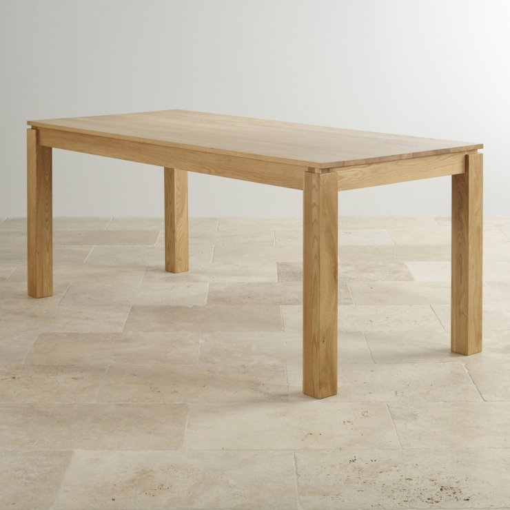 "Galway 6ft x 2ft 8"" Natural Solid Oak Table"