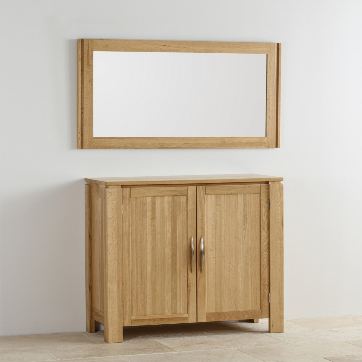 16 Sophisticated Rustic Living Room Designs You Won T Turn: Galway Natural Solid Oak Wall Mirror By Oak Furniture Land