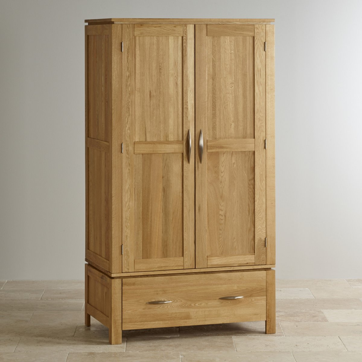 galway natural solid oak double wardrobe bedroom furniture. Black Bedroom Furniture Sets. Home Design Ideas